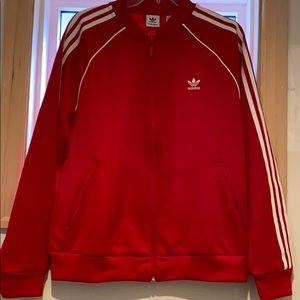 Adidas Red Tracksuit Jacket